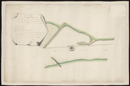 1403-KD000244 Twede kaart of vervolg op de kaart van het Kaaterveer sluytende aan de noordwest zijde en eindigende tot ...