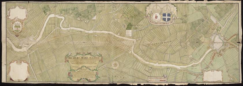 1411-KD000197 Caarte van het Swartewaater of nette beschryvinge van het vaarwater van de stat Zwol op HasseltHet gebied ...