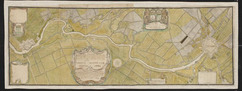 1411-KD000198 Caarte van het Swarte Waater tusschen Zwolle en Hasselt.Het gebied in kaart gebracht door Abraham ...