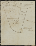 3063-KD000152 [Zonder titel]Schetskaart van de stukken land bij de Ketelkolk, tussen het Zwarte Water en de Hoogstraat. ...