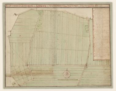 5770-KD000276 Plan van het Groote Blok ofte Koekoek in MastenbroekKaart door E.J. van Slangenburg van de polder Koekoek ...