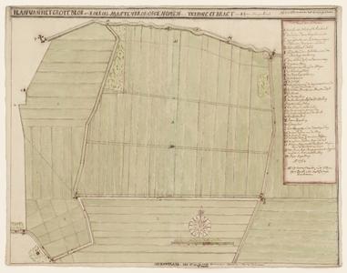 5770-KD000277 Plan van het Grote Blok ofte Koekoek in MastenbroekKaart vervaardigd door E.J. van Slangenburg van de ...