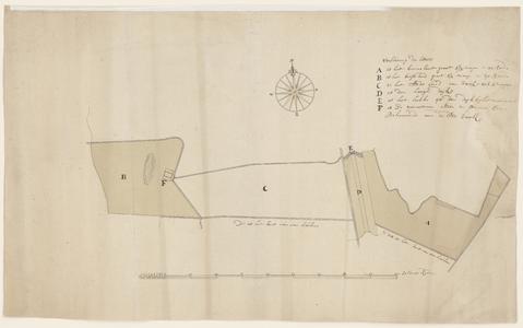 9013-KD000231 [Zonder titel]Kaart van de stadstichelkuil met de gewezen panoven in de buurschap Schelle, net ten zuiden ...