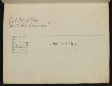 9110-KD000076 [Zonder titel]Plattegrond van het terrein van vrouw Boeckelmans, 'het huys van vrou Boeckelmans' in de ...