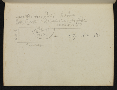 9110-KD000118 [Zonder titel]Plattegrond van het terrein achter Jan Smit die het huis gekocht heeft van juffer Oomkees ...