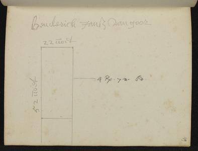 9110-KD000136 [Zonder titel]Plattegrond van het terrein achter Henderick Janssen van Goor in de Walstraat aan de ...