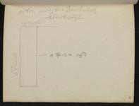 9110-KD000137 [Zonder titel]Plattegrond van het terrein achter meester Henderick Klinckebijl in de Walstraat, aan de ...