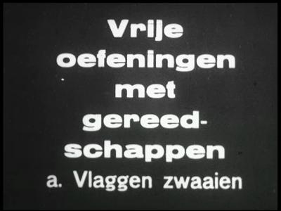 13219 BB00258 Een film van het Instituut voor Lichaamsontwikkeling te Enschede, met beelden van gymnastiekoefeningen, ...