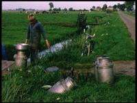 3658 BB03295 Proefopnames voor de film 'De Weg Gebaand', een documentaire van Provinciale Waterstaat over de aanleg van ...