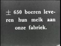 8874 BB05307 Documentaire over het product melk van boer tot consument.Beelden van een boer en boerin die het vee ...