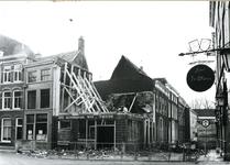 4088 FD001240 De automatiek van Woolthuis na de brand op 18-02-1979. Het pand lag op de hoek Sassenstraat met de ...