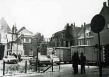 4687 FD001286 Gezicht op de achterzijde van een uitgebrand pand aan de Bloemendalstraat na de brand van 7 januari 1979. ...