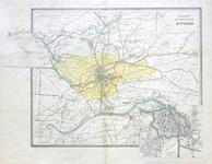1064-KD000386 Kaart der omstreken Zwolle Kaart van de omgeving van Zwolle, met daarop de gemeentegrens en een ...