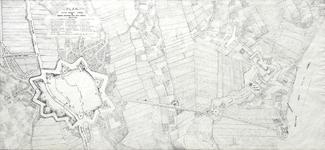 1071-KD000393 Plan der stadt Swoll & nieuwe werken aen den IJssel renvoy Vestingwerken tussen Zwolle en de IJssel. ...