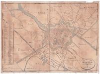 1547-KD001118 Platte grond van de Gemeente Zwolle, 1878 Plattegrond van de gemeente Zwolle. Met de omliggende landen: ...