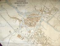 1557-KD001128 Plattegrond der gemeente Zwolle, bebouwde grond. Stadsplattegrond van de Zwolle. De wijk Assendorp tot de ...