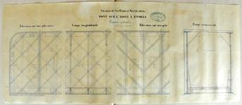 1660-KD001141 Chemin de fer Central Néerlandais Pont sur l'Yssel a Zwolle Technische tekening van de spoorbrug over de ...