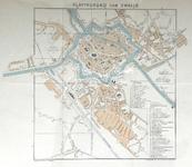 1690-KD001171 Plattegrond van Zwolle Plattegrond van het centrum van Zwolle en de buitenwijken. Assendorp is uitgebreid ...