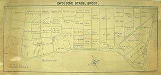 1801-KD001178 Zwolsche Stads - Broek Kopie van de kaart, uit ca 1725, van het Zwolse Stadsbroek. Met de verdeling in 57 ...