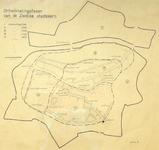 1834-KD001211 Ontwikkelingsfasen van de Zwolse stadskern Kaart van de binnenstad van Zwolle, met de ontwikkelingsfasen ...
