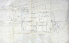 1964-KD001234 [Geen titel] Getekende plattegrond van Vollenhove, omstreeks de zeventiende eeuw. Het Oldehuis was reeds ...