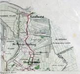 292-KD001351 IJsselmuiden 287 Kopie van een topografische kaart van het gebied rond IJsselmuiden en Grafhorst. Vermeld ...