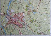 413-KD001365 21 G, zuidblad Kopie van de topografische kaart van Zwolle en het gebied ten oosten van de stad. In de ...