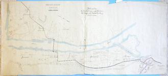 582-KD001426 Waterleiding Zwolle, persleiding Manuscriptkaart van het gebied tussen de Willemsvaart en het centrum van ...