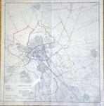 709-KD001446 Plattegrond van Zwolle Topografische kaart van Zwolle en omgeving met daarop ingetekend een voorstel tot ...