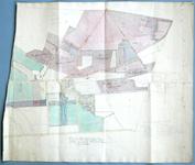 720-KD001457 Handgetekende en ingekleurde kaart van landgoed 't Nijenhuis, naar o.a. de kadastrale kaart KD001455. Het ...
