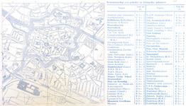 770-KD000307 Dorsaal: plattegrond van de binnenstad van Zwolle Plattegrond van het centrum van Zwolle en de omliggende ...