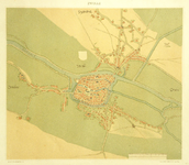 773-KD000310 Zwolle Facsimile. Kaart van de binnenstad van Zwolle, met daaraan grenzend Dieze, Assendorp (met klooster ...