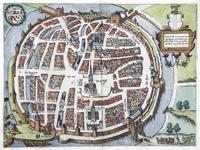 774-KD000311 Zwolle Facsimile. Kaart van de binnenstad van Zwolle, met daaraan grenzend Dieze, Assendorp (met klooster ...