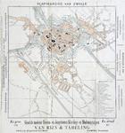 785-KD000322 Plattegrond van Zwolle Plattegrond van Zwolle, met advertenties. Uit adresboek uit 1898 met spoor- en ...