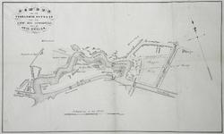 789-KD000326 Schets van het voorloopig ontwerp van de loop des spoorwegs door de stad Zwolle Schetsontwerp van een ...