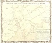 797-KD000335 Situatie van Zwol, Hasselt, en 't Swarte Water Kopie van vier atlaskaarten die de situatie in 1701 ...