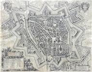 921-KD000351 Swolla Plattegrond van Zwolle met onder andere de vestingwerken. Komt in grote lijnen overeen met ...