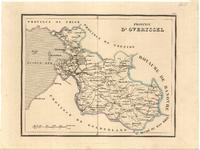 647-KD000292 PROVINCE | D'OVERYSSEL 1 kaart. Rechts boven het kader No. 5. Grensgekleurd. Toponymie Frans-talig. ...