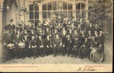 1947 PBKR4441 Het Zwolse Dilettanten orkest, vermoedelijk in de tuin van de Buitensocieteit aan de Westerlaan, ca. ...
