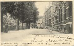 2027 PBKR5599 Wilhelminasingel, ca 1900. Opschrift onder afbeelding: Lieve Nettie ik zet een X boven het huis waar wij ...