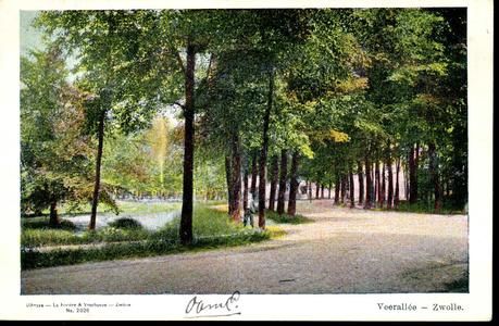 2141 PBKR3923 Veerallee bij villa Spoolderenk gebouwd 1907, ca. 1908. Het jaagpad links volgt de Willemsvaart, tussen ...