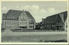2564 PBKR3986 Voorgevel en conciergewoning van het Gymnasium Celeanum aan de Veerallee, in 1929 gebouwd door ...