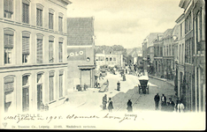 3872 PBKR0769 Gezicht op De Smeden en de steeg de Korte Smeden in de richting van de Diezerpoortenplas, ca. 1900. De ...