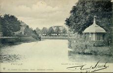 4081 PBKR0797B Gezicht op de Nieuwe Haven vanaf de Nieuwehavenbrug, ca. 1901. Links de huizen aan de Emmawijk, rechts ...