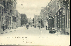 4632 PBKR2605 Gezicht op de Oude Vismarkt vanuit het westen vanaf de Grote Markt, 1902. Het tweede pand van links, Oude ...
