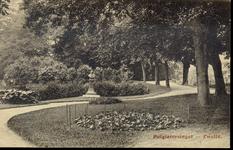 5167 PBKR2709 Potgietersingel 1910-1915, (bastion Suikerberg, voor 1893 Kruittorensingel) met borstbeeld van schrijver ...