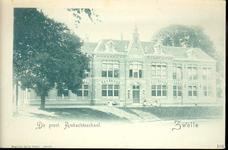 5670 PBKR2241 Menno van Coehoornsingel 16, gezicht op het Flevogebouw vanaf de Stenen Pijp (= brug over de ...