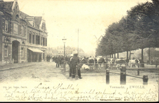 6208 PBKR1748 Gezicht op de vee- of beestenmarkt in noordelijke richting, 1900-1902. De opname is gemaakt ter hoogte ...
