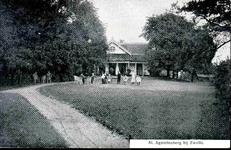 6317 PBKR0065 Haersterveerweg 23, theehuis Agnietenberg, 1905-1910. In 1717 was al op deze plaats een theeschenkerij ...