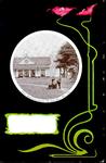 6326 PBKR0074 Haersterveerweg 23, Theehuis Agnietenberg, 1895-1904. Voorstelling op zwarte achtergrond met rechts ...